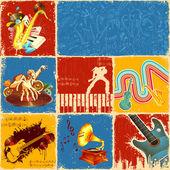 Collage de la musique — Photo