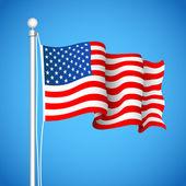 美国国旗 — 图库矢量图片