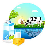 Fazenda de gado leiteiro — Vetorial Stock