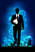 Business Man — Stock Vector
