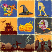 Halloween Collage — Stock Vector