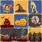 Halloween Collage — Stock Vector