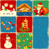 Noel kolaj — Stok Vektör