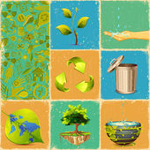 Recycle Collage — Stock Vector