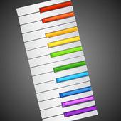 Rainbow Piano — Stock Vector