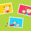Kids Photo Frame — Stockvectorbeeld