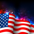 Vector de stock : Glowing American Flag
