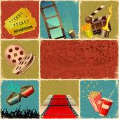 Collage di film — Vettoriale Stock