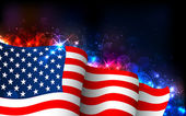 发光的美国国旗 — 图库矢量图片