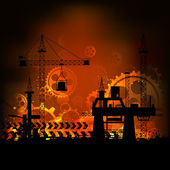 Fondo industrial — Vector de stock