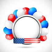 American Badge with Ballon — Stock Vector