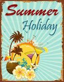 Vacaciones de verano — Vector de stock
