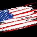 Grungy American Flag — Stock Vector