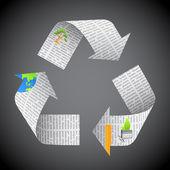 Newspaper Recycle — Stock Vector