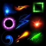 Glowing Light Effect — Stock Vector