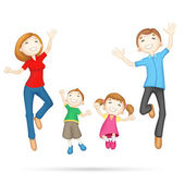 Família feliz 3d — Vetorial Stock