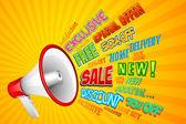 Anuncio de venta — Vector de stock