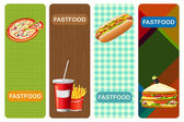 Food Banner — Stock Vector