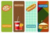 Food Banner — Stock Vector