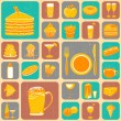 Food Collage — Stock Vector