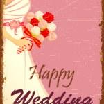 Bride in Wedding Background — Stock Vector
