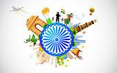 Cultura de la india — Vector de stock