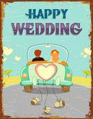 Coppia appena sposata — Vettoriale Stock