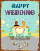 Just Married Couple — Vector de stock