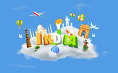 India on Cloud — Vector de stock