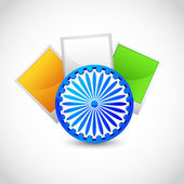 Indian Flag Color Blank Photo — Stock Vector