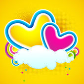 Love Cloud — Stock Vector