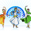 Indian Classical Dancer — Imagen vectorial
