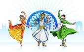 Indian Classical Dancer — Vector de stock