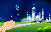 Eid Prayer — Stock Vector