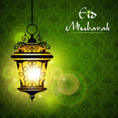 Iluminated Lamp on Eid — Stockvektor