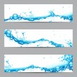 Stock Vector: Water Splash Banner
