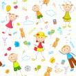 Kid Birthday Background — Stock Vector