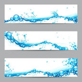Water splash banner — Stockvector