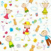 Fundo de aniversário de criança — Vetor de Stock