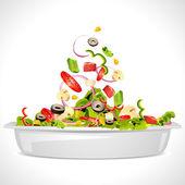 свежий салат — Cтоковый вектор