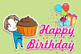Happy Birthday — Vector de stock