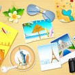 Travel Background - Stockvectorbeeld