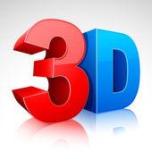 3D Word Symbol — Stock Vector