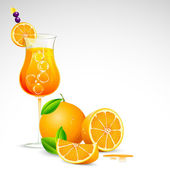 Fresh Orange Juice — Stock vektor