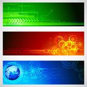 Technology Banner — Stock Vector