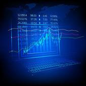 Akciovém trhu výpis — Stock vektor