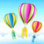 Sale Hot Air Balloon — Stock Vector