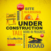 Under Construction — Vector de stock