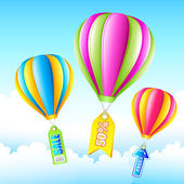 Sale Hot Air Balloon — Vecteur