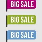 Modern label – big sale — Stock Vector